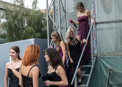 Bender, Pridnestrovie. A group of singers in the backstage of the event organized to celebrate the 10th anniversary from the referendum that, on september,17,2006  acknowledged the friendship between Russia and Pridnestrovie. The annexation of the Crimea to Russia has led the government of Pridnestrovie to hope to be able to quickly achieve the same result. Actually the position of Russia is different because the relations between Russia and Moldova are better than those with Ukraine.