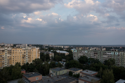 Tiraspol, Pridnestrovie. Panoramic view of the city.