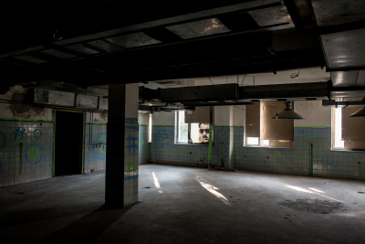 Bender, Pridnestrovie. Inside an occupied building. This building was destroyed during the street-fighting during the Revolutionary War. Here, some young people, often organize underground parties.