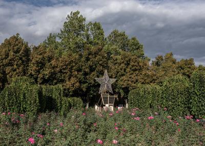 Bender, Pridnestrovie. Soviet Union simbols in a city park.