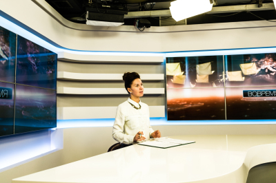 Tiraspol, Pridnestrovie. Inside the headquarter of PGTRK television, the first state TV channell. they have three different redactions, one for each languages and cultures spoken and represented in the country: Moldavian, Russian and Ukrainian.