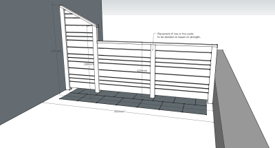 Bespoke Fence Design and Location Mockup