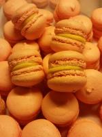 alphonso mango macarons