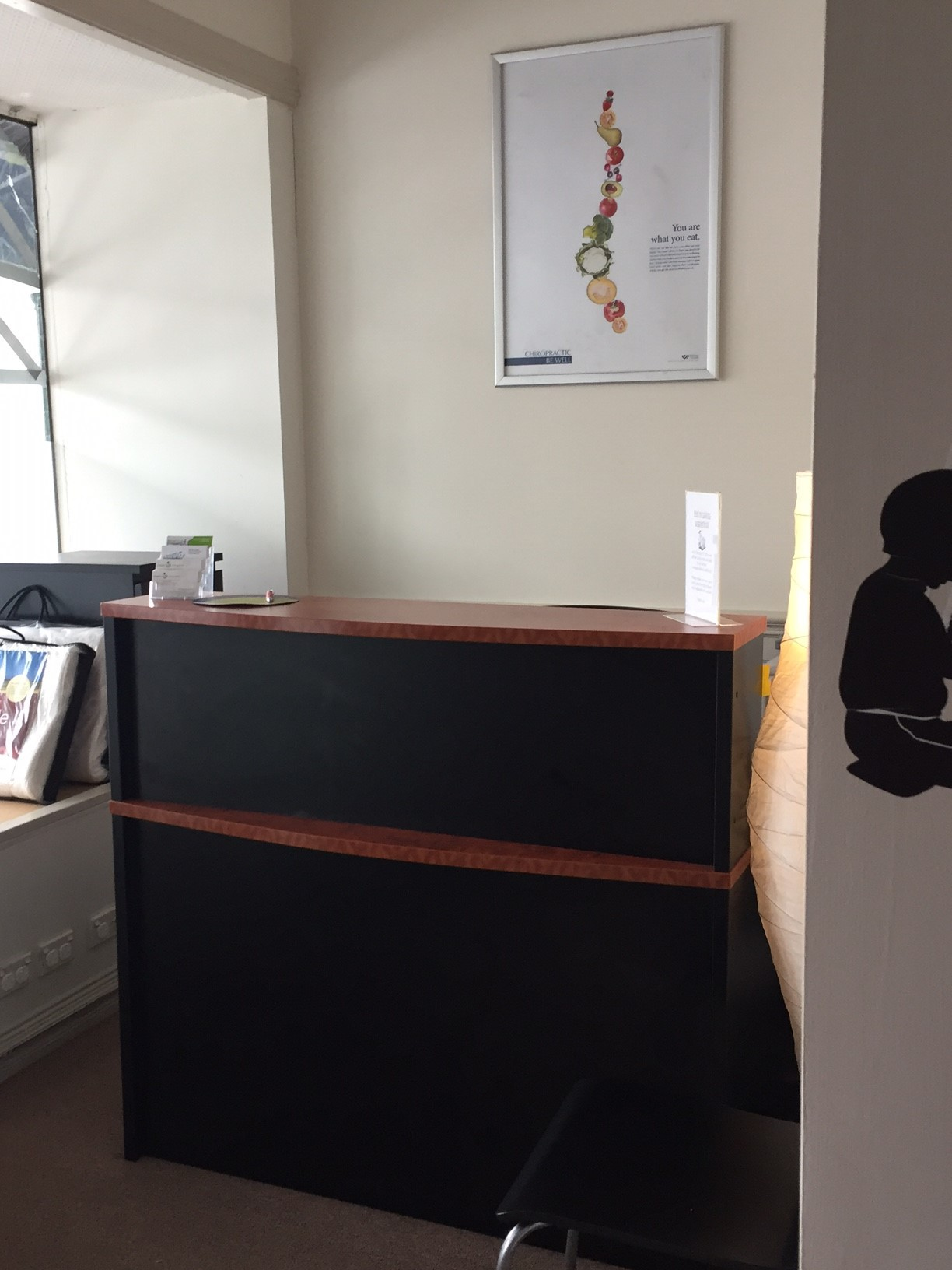 "<img alt=""Clinic Reception Desk"">"