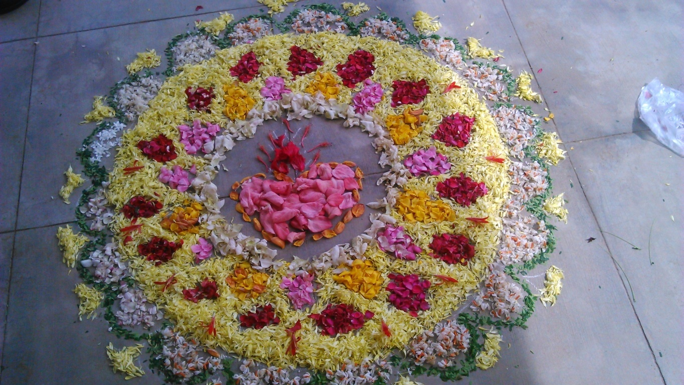 The Diwali Flower Rangoli