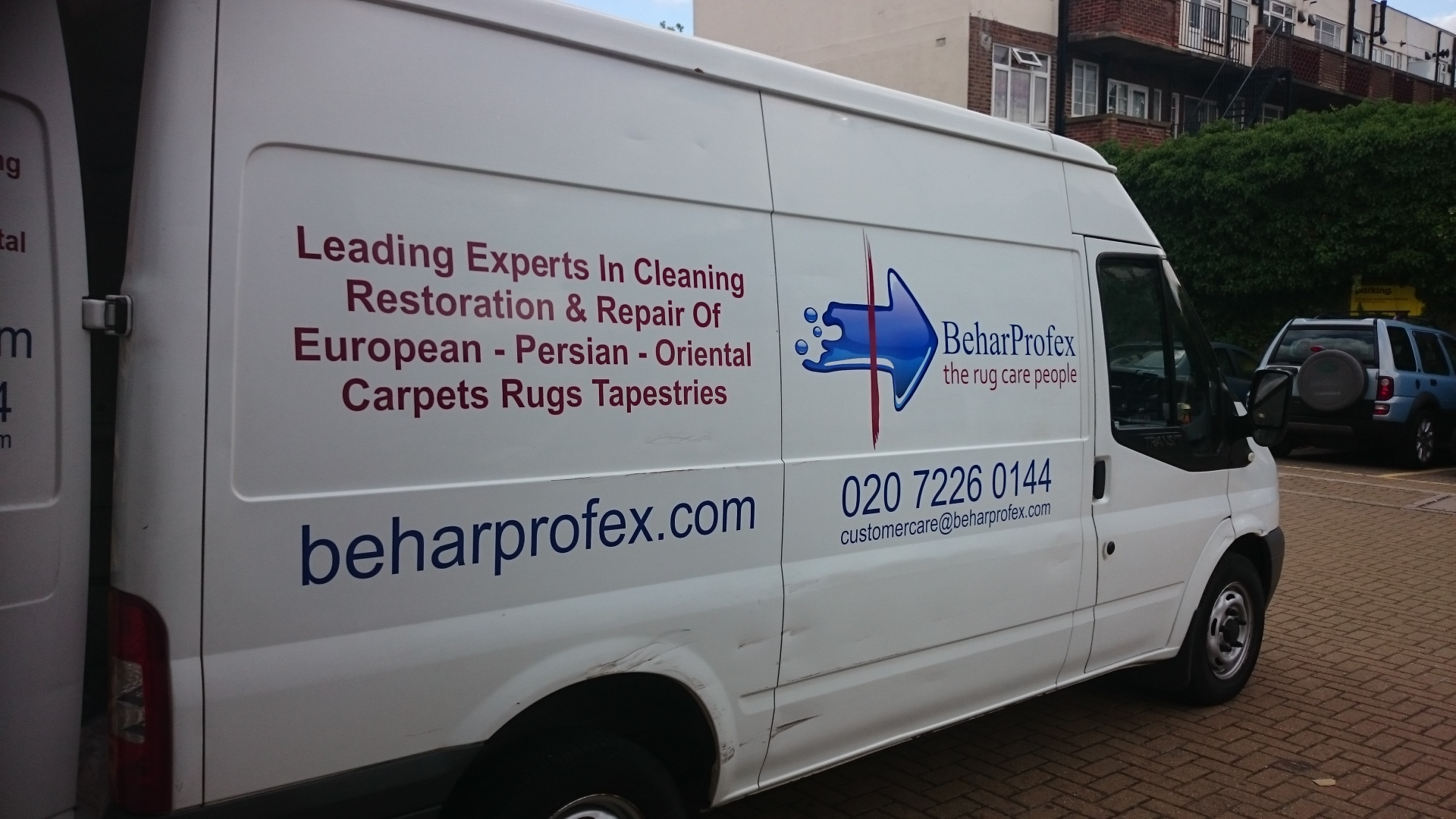 Our van on its way to collect your rug