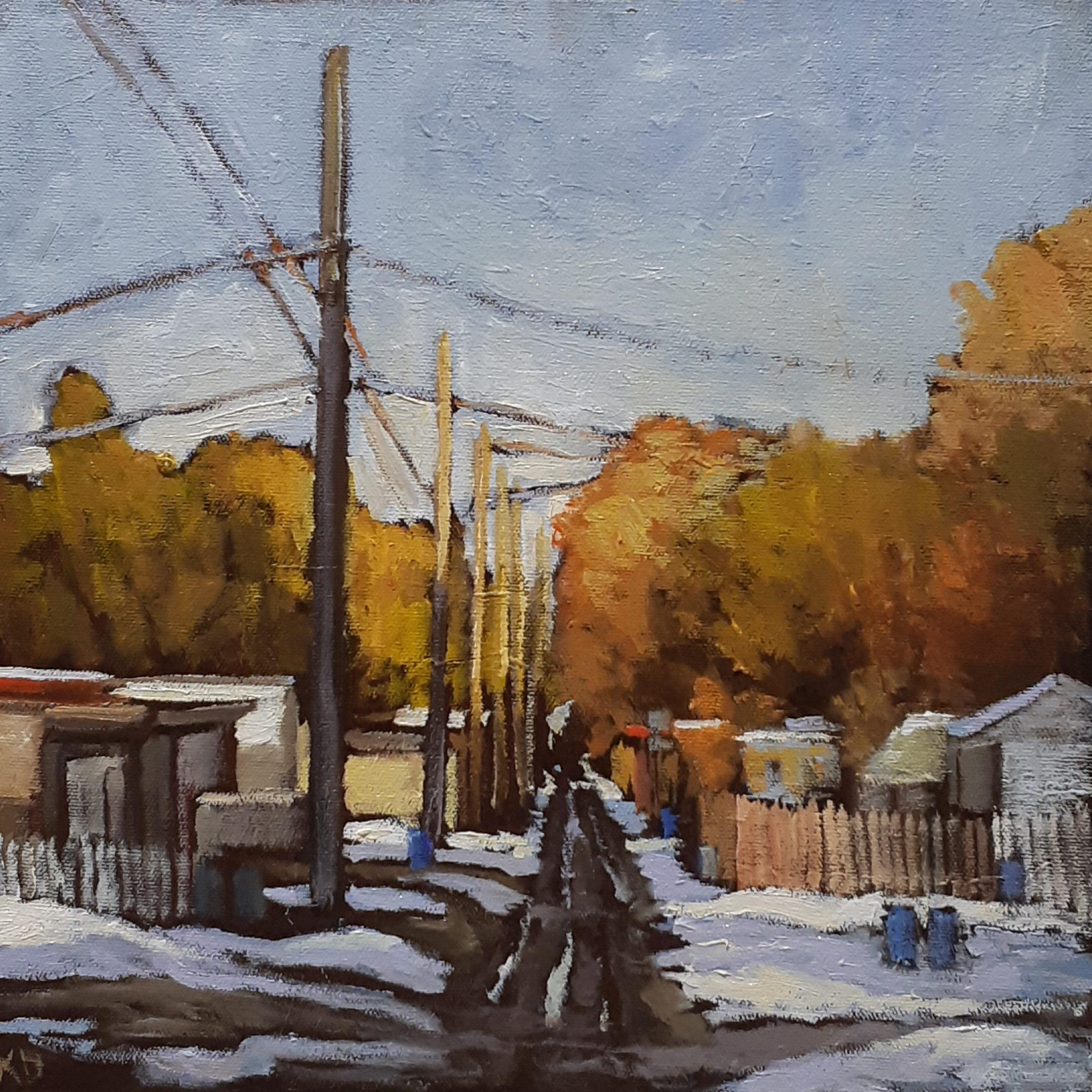 FALL IN MCKERNAN - 12X12 - OIL ON CANVAS - 2019