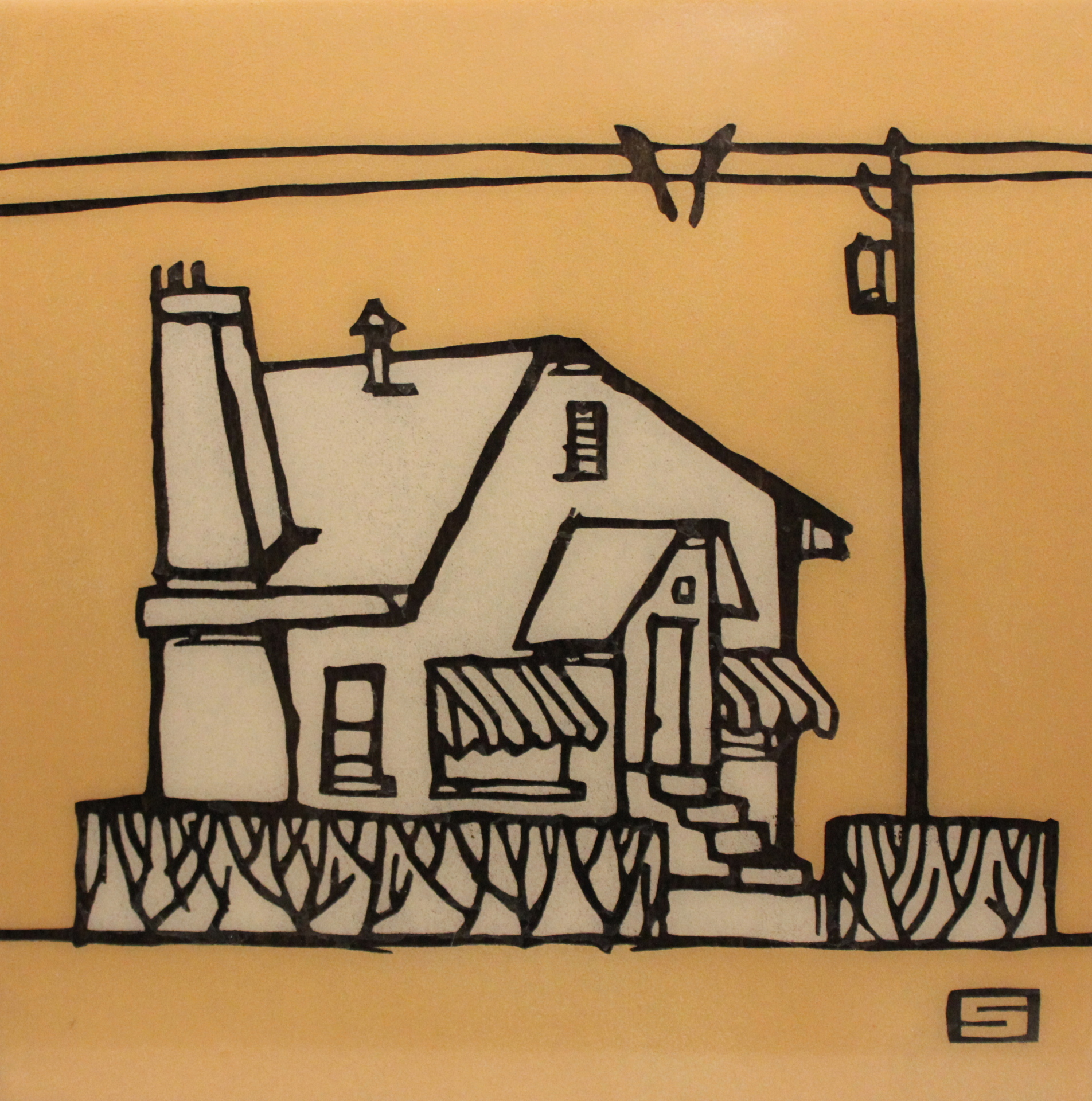 HOUSE #8 - 12X12 - MM ON PANEL - 2011