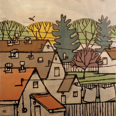 CLOTHESLINE - 48X48 - MM ON PANEL - 2013