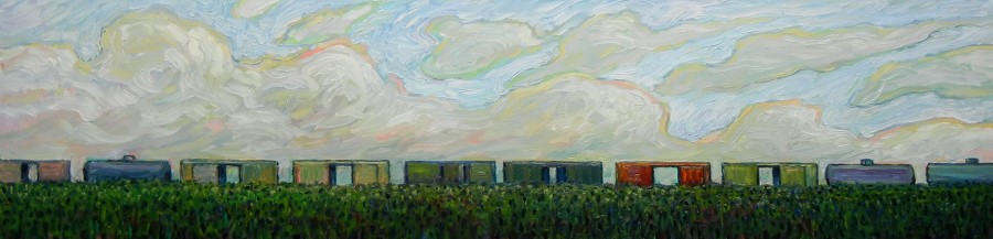 SLOW TRAIN - 12X48 - OIL ON CANVAS - 2014