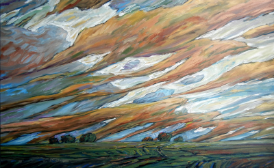 STRONG WINDS - 30X48 - OIL ON CANVAS - 2014