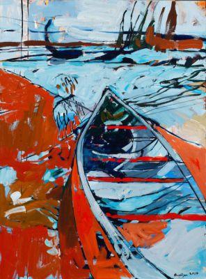 LAKE CHADBURN - 48X36 - OIL ON CANVAS - 2014