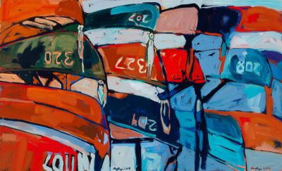 NUMBERED I - 36X60 - OIL ON CANVAS - 2014