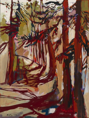 RED ROOTS - 48X36 - OIL ON CANVAS - 2014