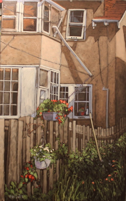 MY FRIENDS GARDEN - 60X36 - OIL ON CANVAS - 2012