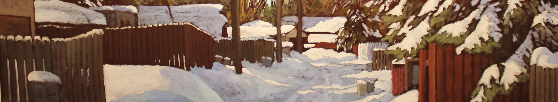 ALLEY'S WINTER BLANKET - 12X60 - OIL ON CANVAS - 2014