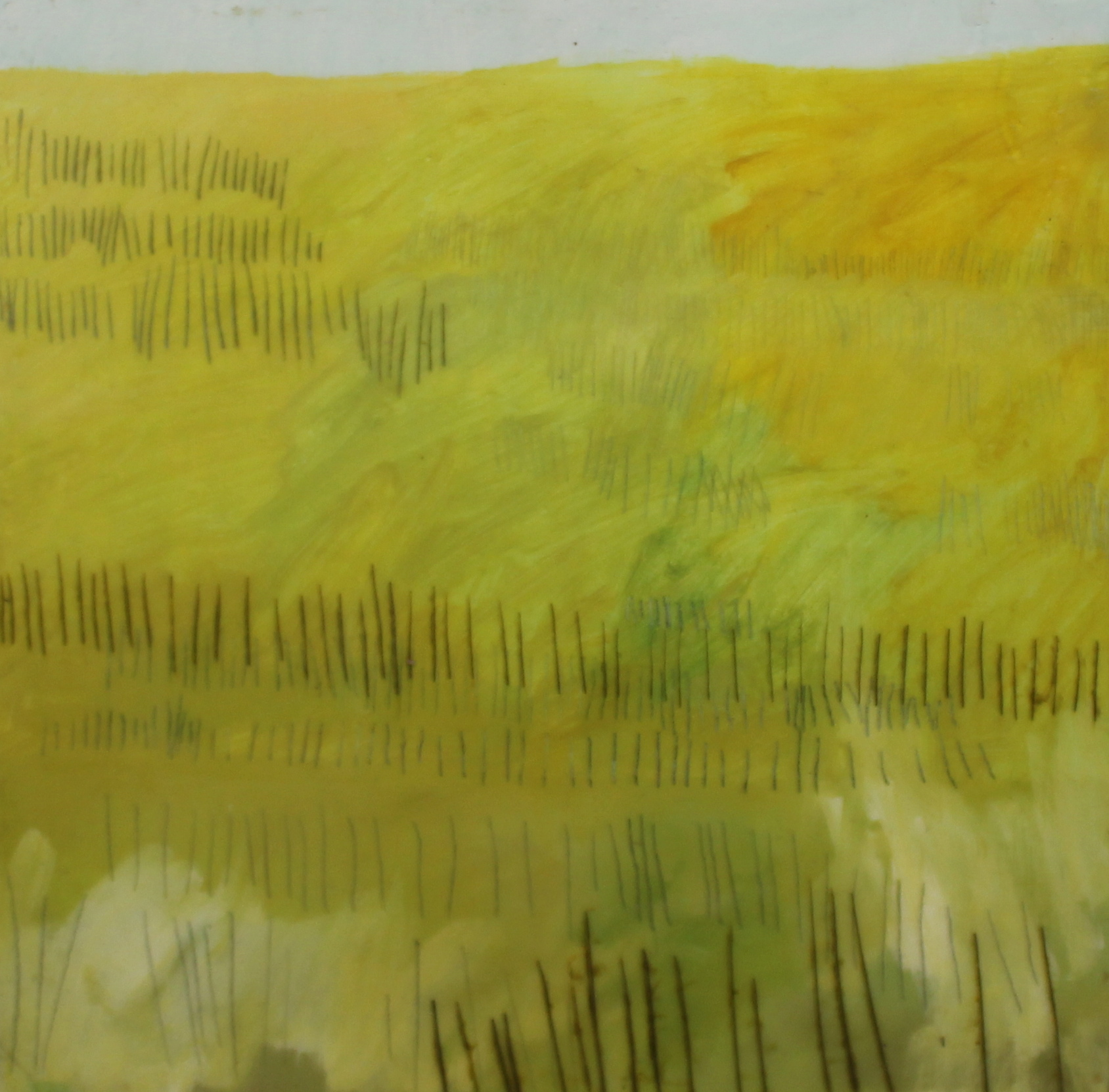 SUMMER FIELD - 12X12 - ENCAUSTIC/PANEL - 2011