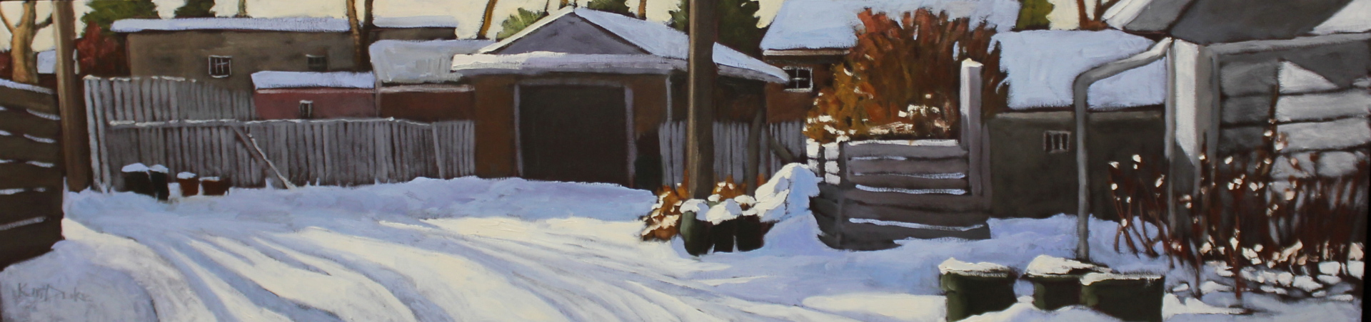 SNOW TRACKS - 12X48 - OIL ON CANVAS - 2014