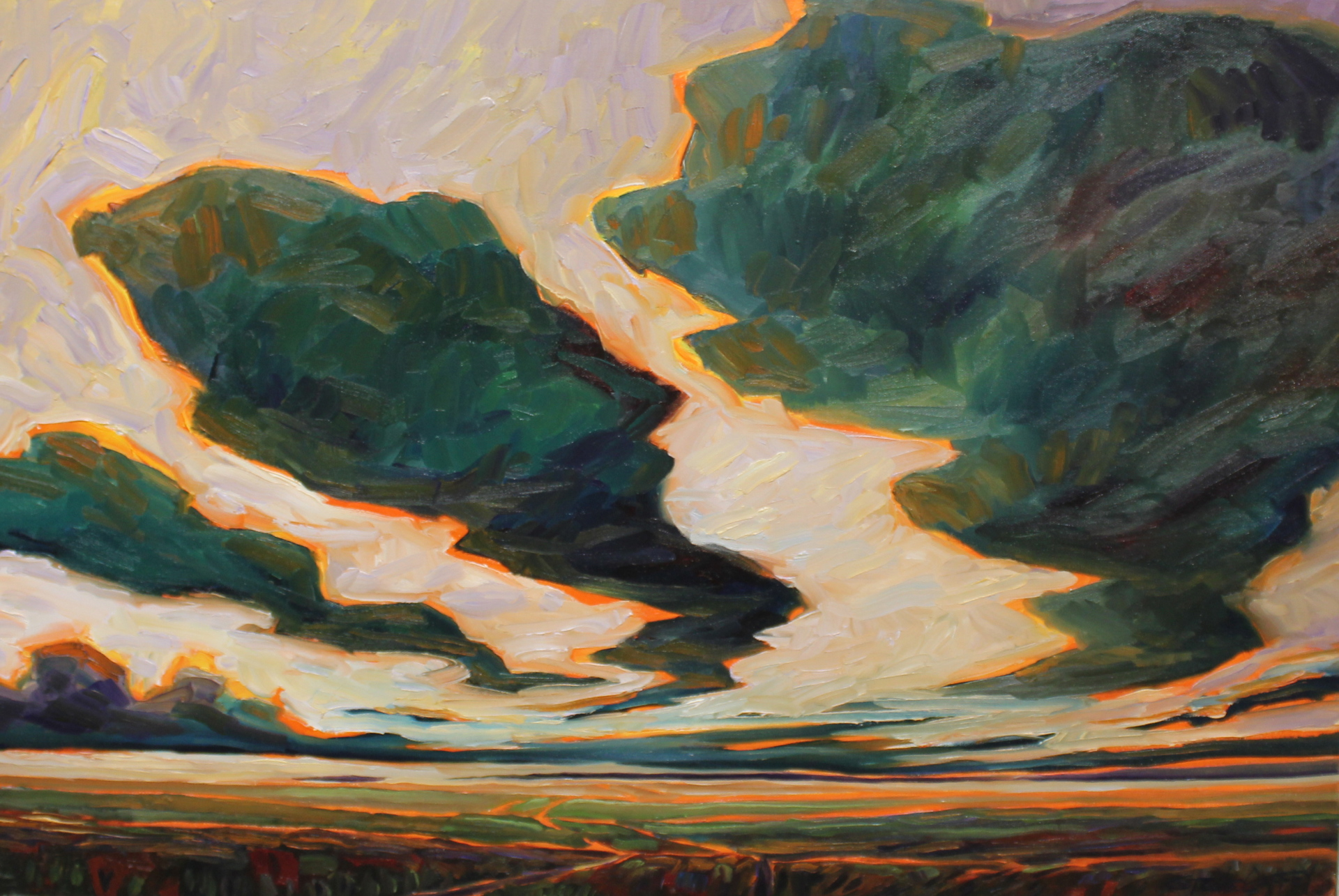 EVENING WIND - 20X30 - OIL ON CANVAS - 2014