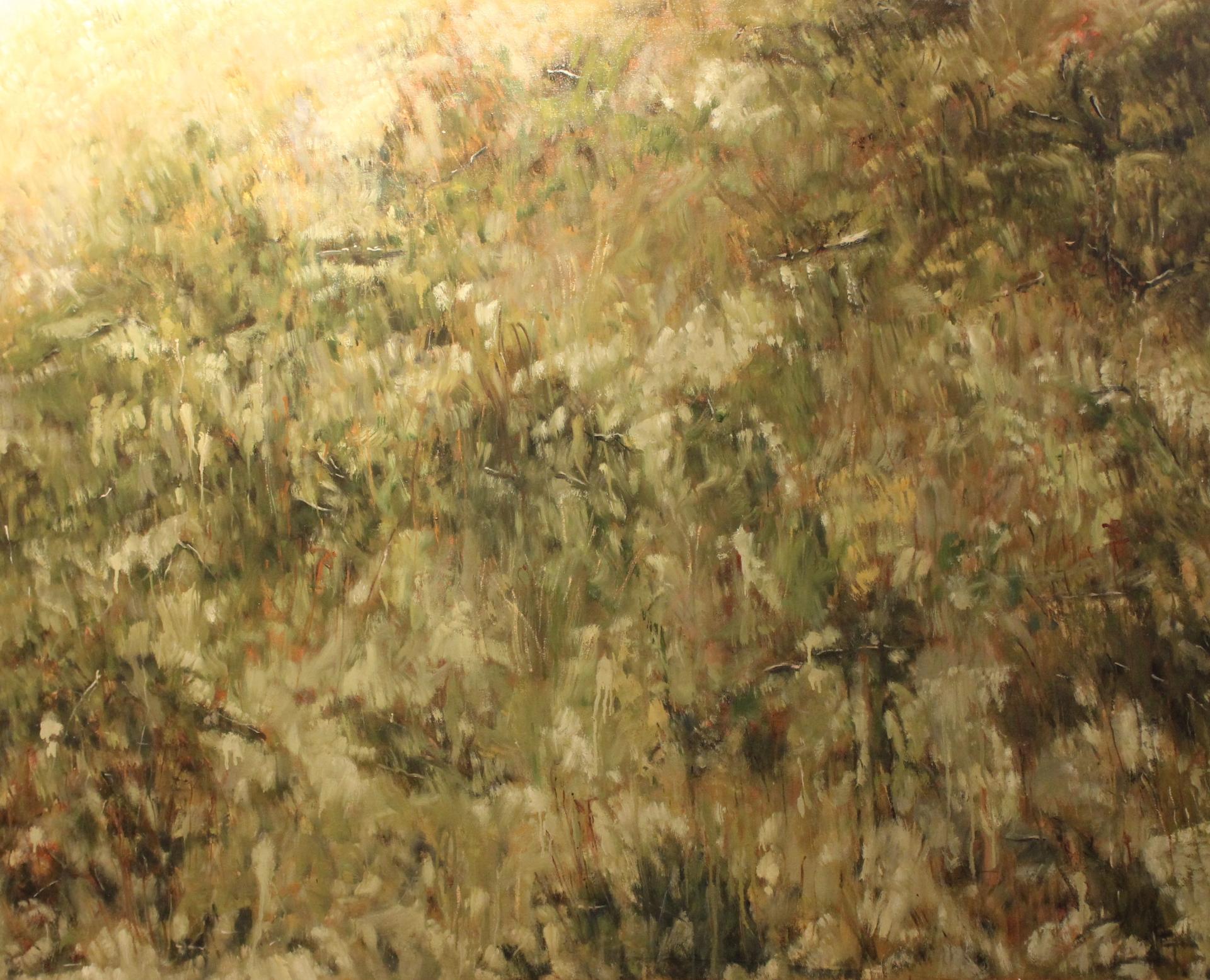 HILLSIDE GRASSES/PRAIRIE I - 48X60 - OIL ON CANVAS - 2010