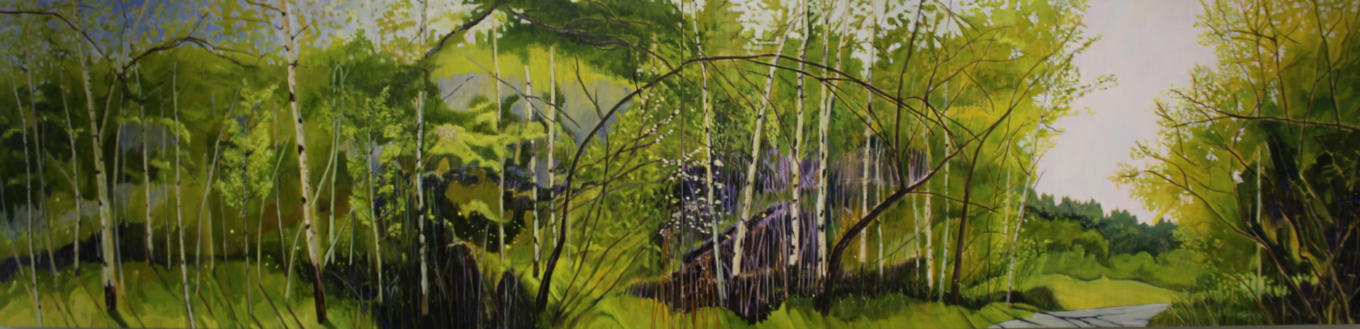 NEAR GOVERNMENT HOUSE - 40 X 168 - OIL ON CANVAS - 2015
