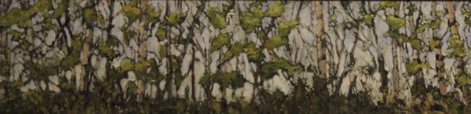 ASPEN SERIES/WINDROW I - 12X48 - OIL ON CANVAS - 2000