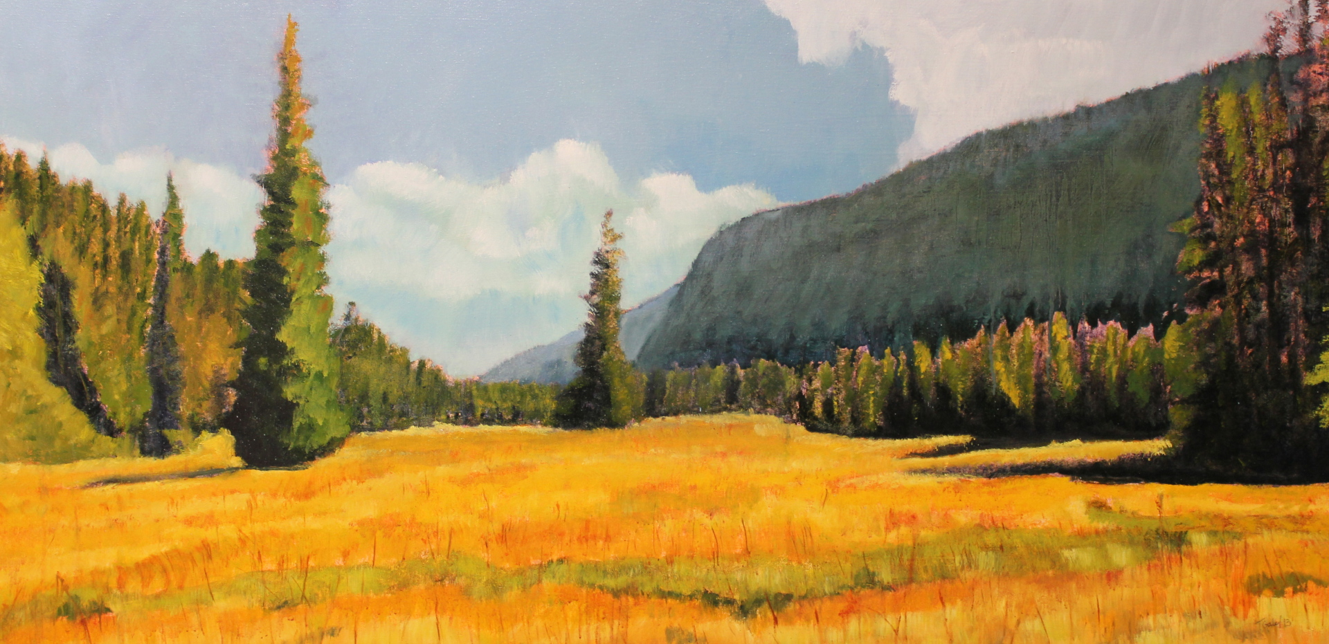 TANSY MEADOWS - 24X48 - OIL ON CANVAS - 2013