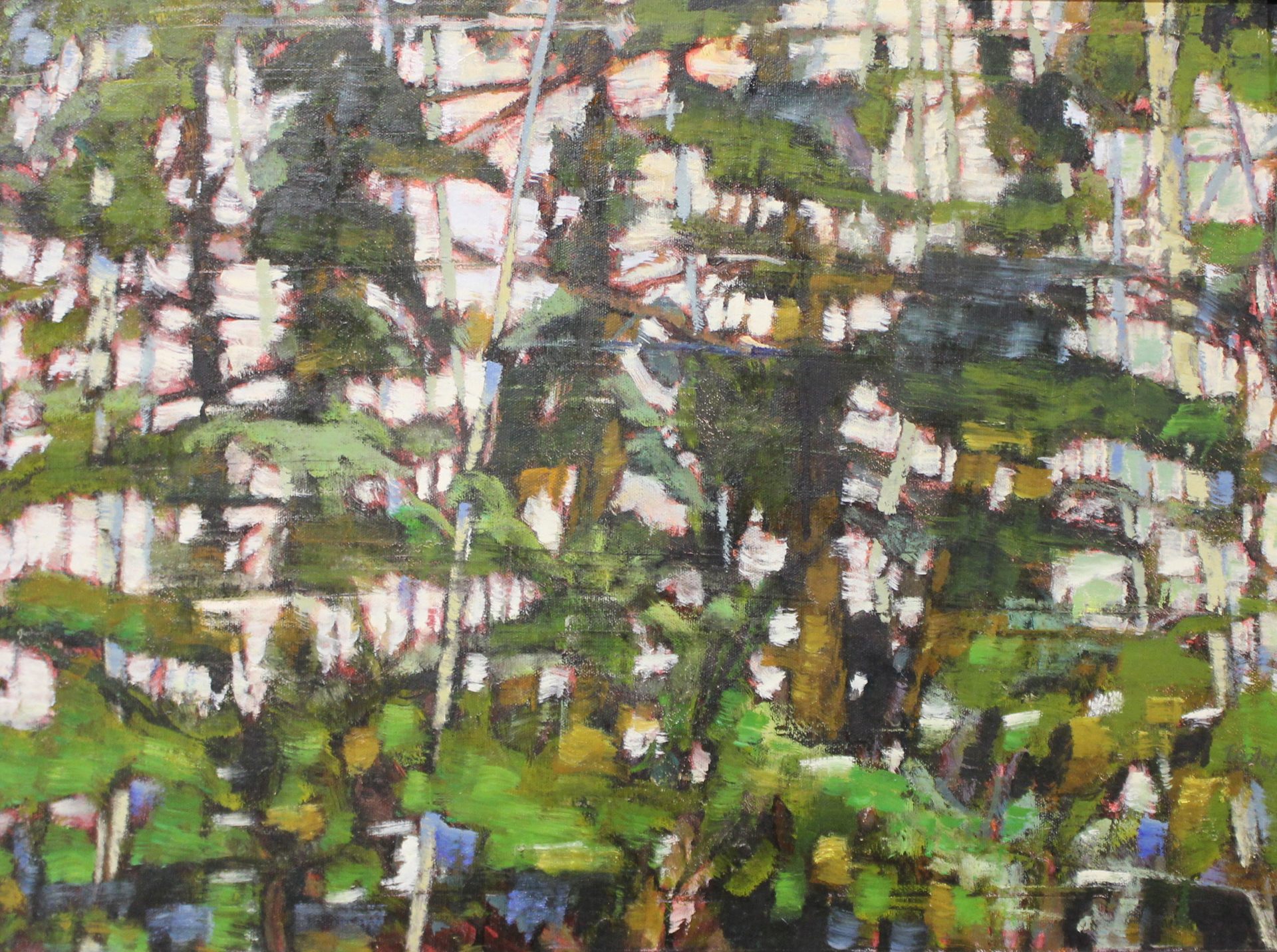 FOREST BLUR STUDY 2012 - 18 X 24 - OIL ON CANVAS - 2012