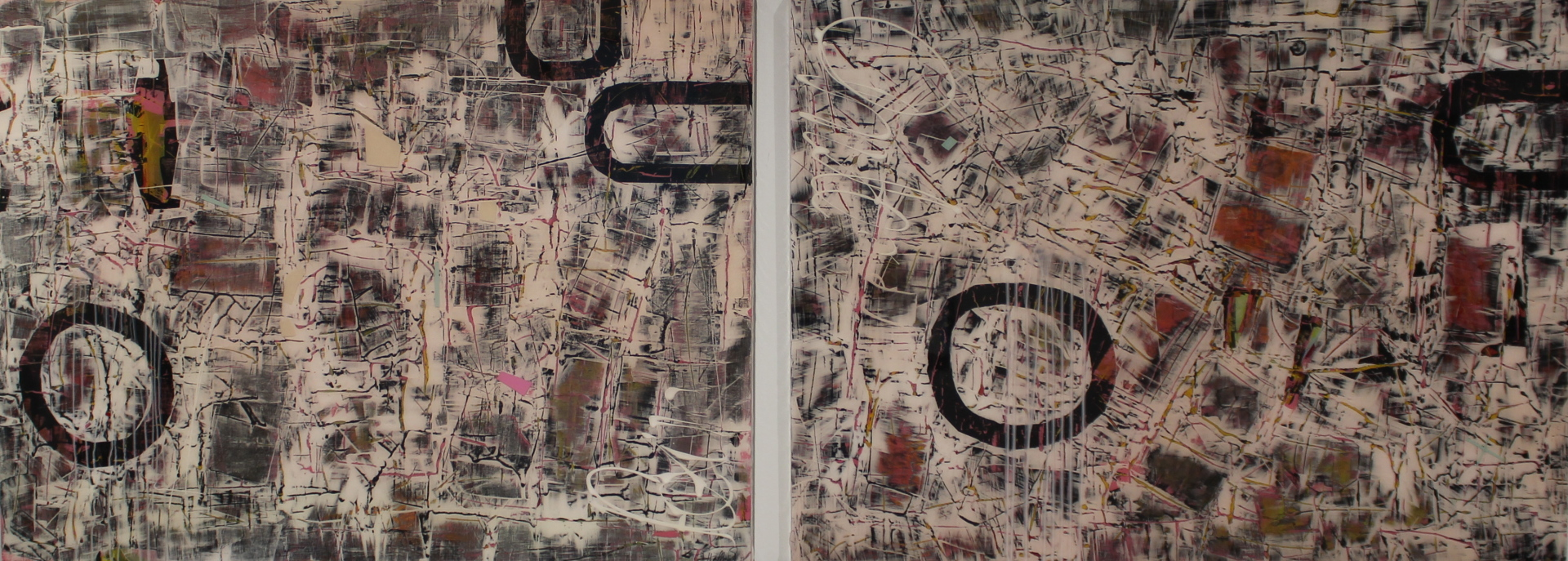 BERLIN ALEXANDERPLATZ II & III - 30X40 (2) - ACRYLIC/RESIN ON PANEL - 2012