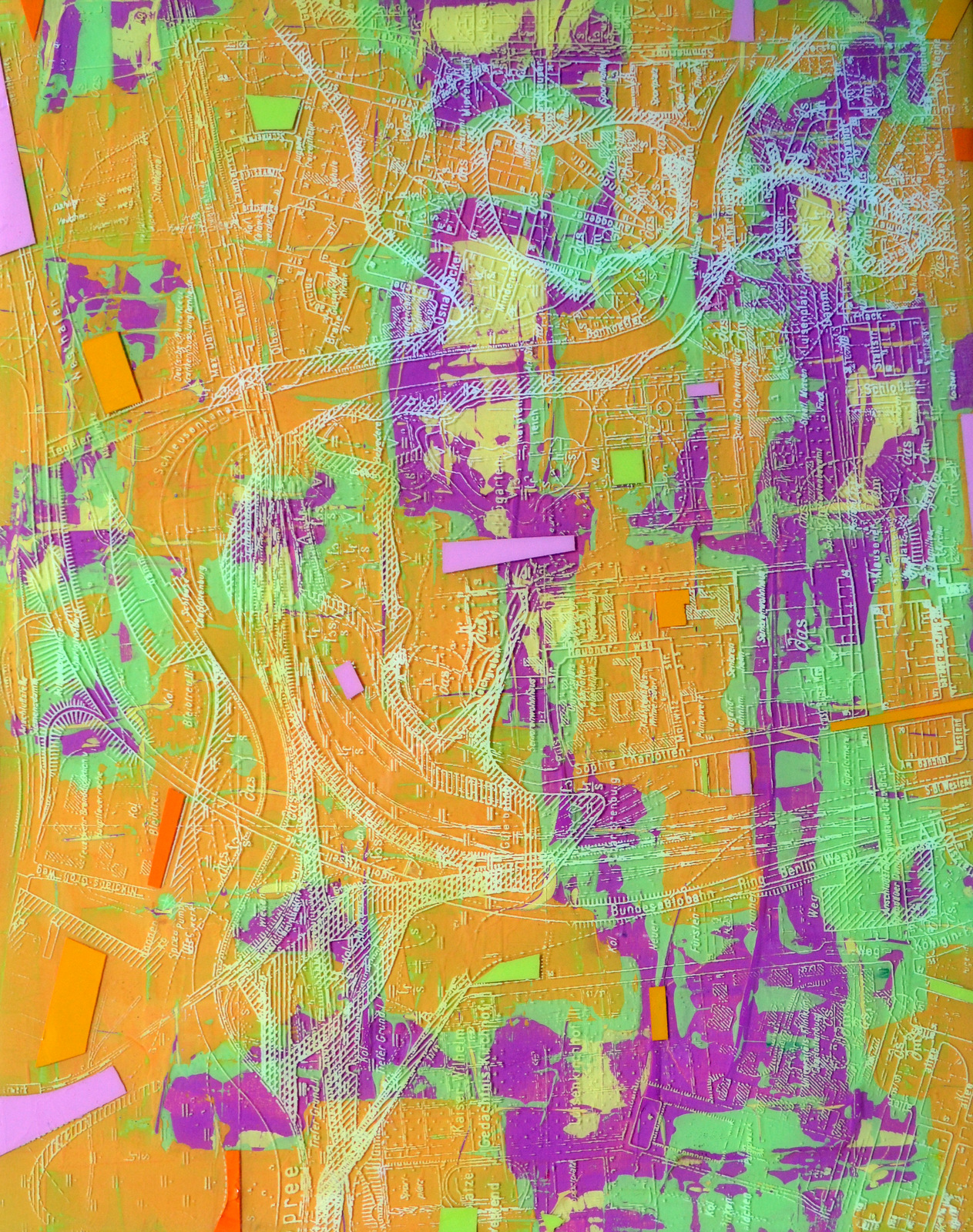 PRENZLAUER BERG IV - 20X16 - ACRYLIC/RESIN ON PANEL - 2013