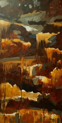 DOUBLE CHOCOLATE - 36X18 - OIL ON CANVAS - 2012