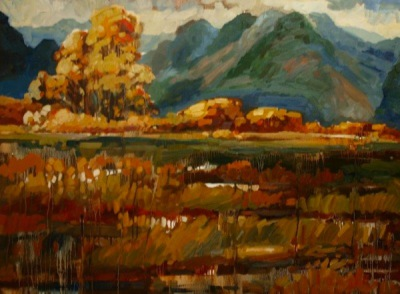 AUTUMNAL PITT MEADOWS - 36x48 - OIL ON CANVAS - 2013