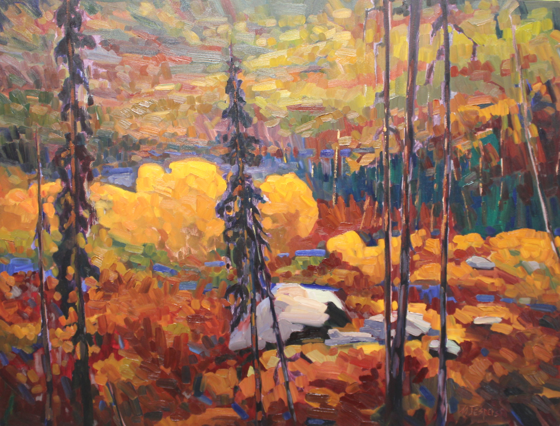 MTN TOP TREASURE - 36X48 - OIL ON CANVAS - 2013
