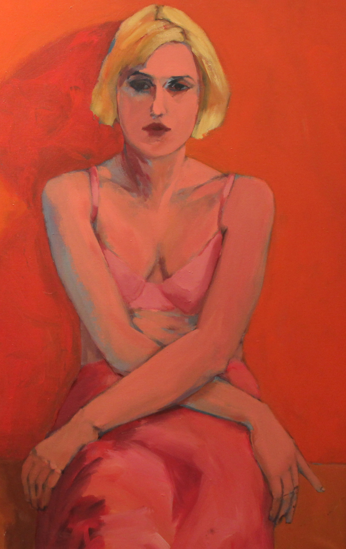 REBECCA #1 - 38X26 - MM ON PANEL - 1992