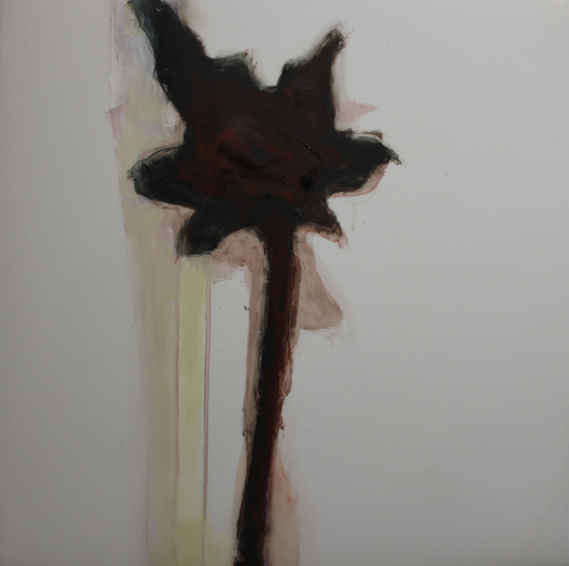 WEST OF THE 4TH #50 (FLOWER) - 21X21 - OIL ON MYLAR - 2014