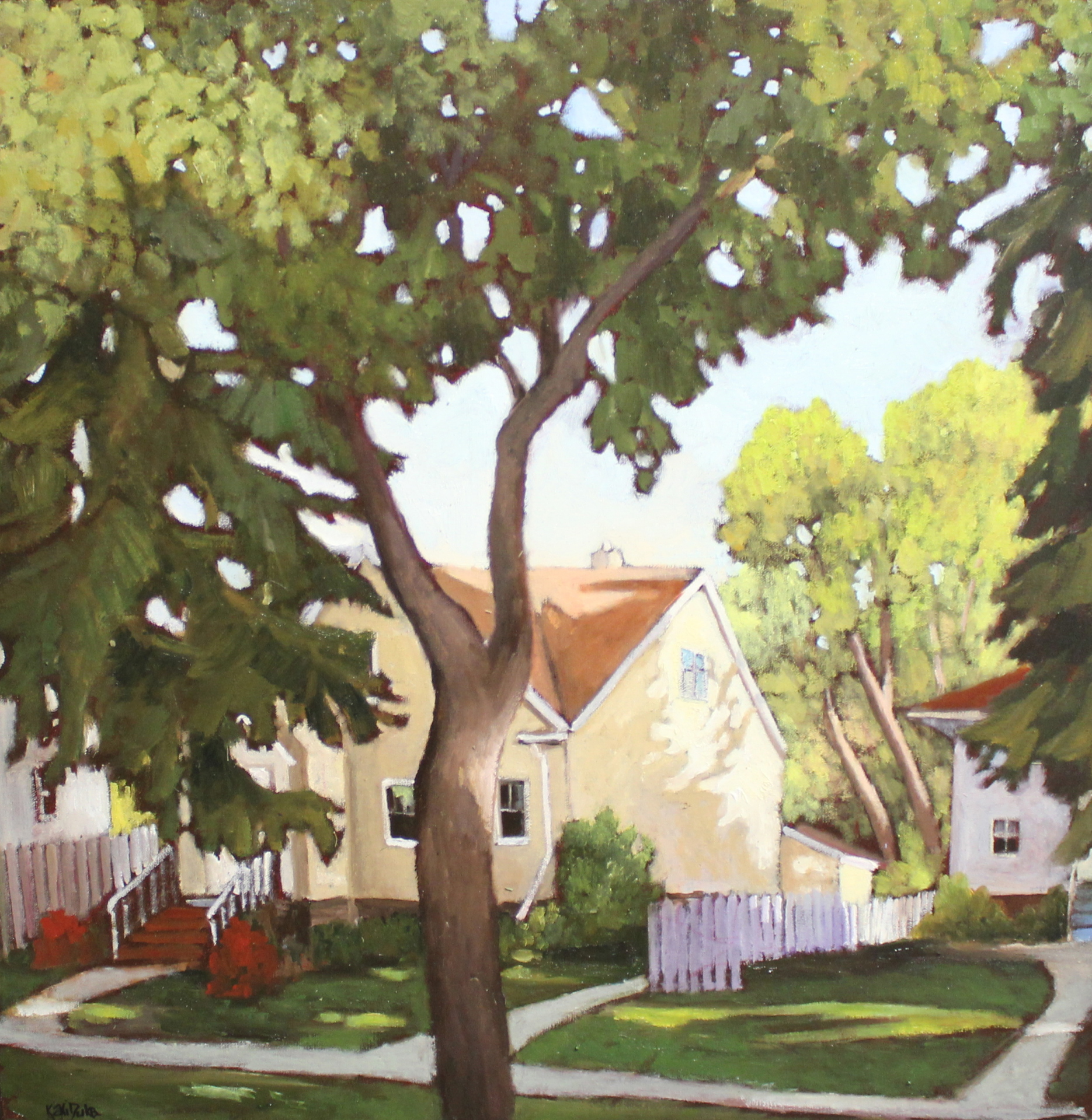 NEIGHBORHOOD WALK - 24X24 - OIL ON CANVAS - 2015