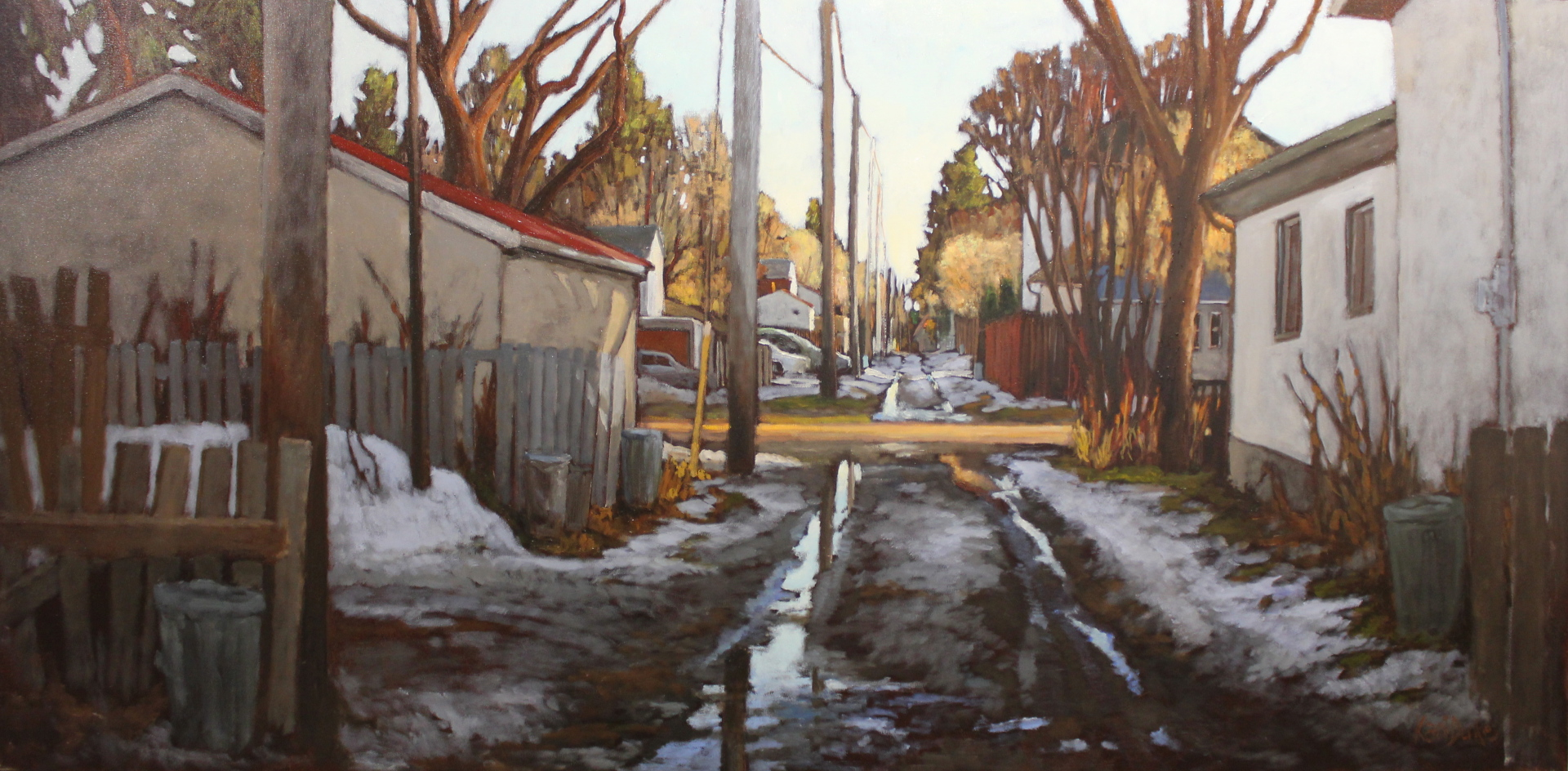 OFF 106TH STREET/A PERFECT WALK - 36X72 - OIL ON CANVAS - 2015