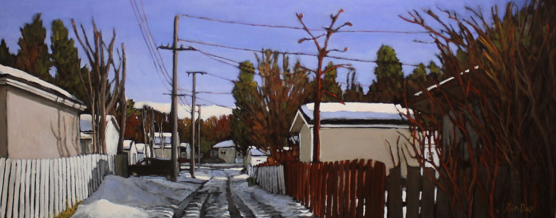 MORE SNOW COMING OUR WAY - 24X60 - OIL ON CANVAS - 2015