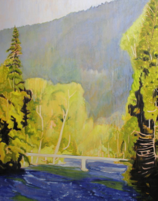 WHITE BRIDGE - 60X48 - OIL ON CANVAS - 2015