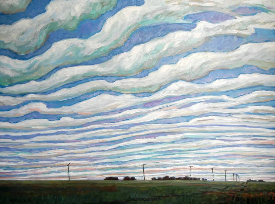SOUTHERN SKY RIPPLE - 36X48 - OIL ON CANVAS - 2016