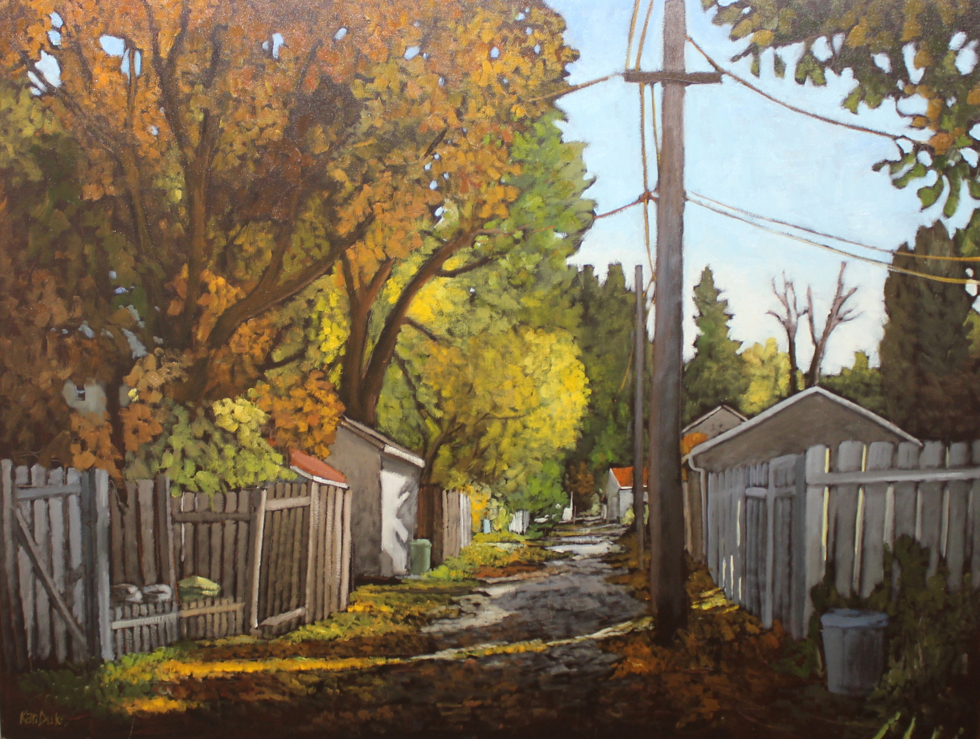 THE AUTUMN SHED - 36X48 - OIL ON CANVAS - 2016