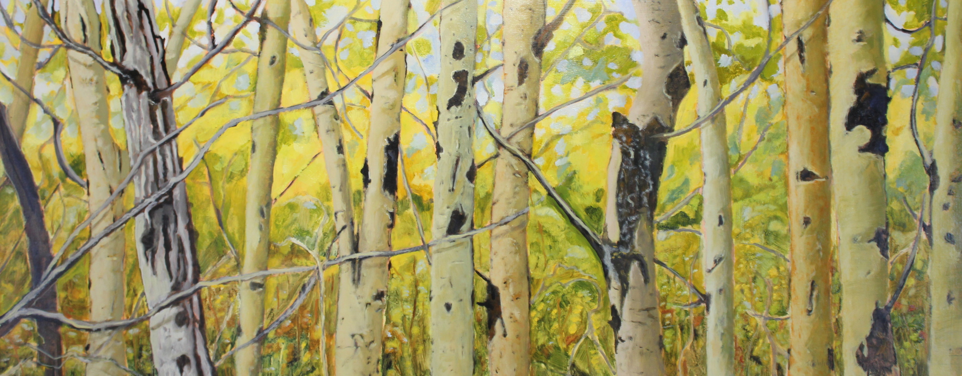 SPRING ASPENS I - 24X60 - OIL ON PANEL - 2016