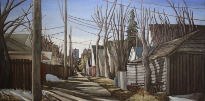 BRUCE'S ALLEY - 36x72 - OIL ON CANVAS - 2016
