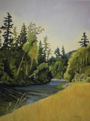 SHUSWAP RIVER IV - 48X36 - OIL ON CANVAS - 2016