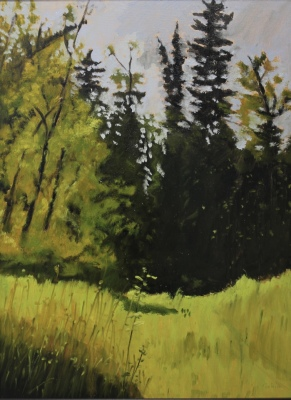SHUSWAP RIVER STUDY II - 24X18 - OIL ON PANEL - 2016