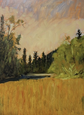 SHUSWAP RIVER STUDY IV - 24X18 - OIL ON PANEL - 2016