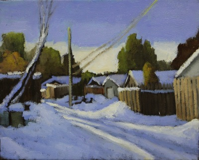 EDMONTON WINTER - 8X10 - OIL ON CANVAS - 2016