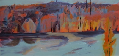 RIVER VALLEY SERIES OC-8-17 - 18x36 - OIL ON CANVAS - 2017
