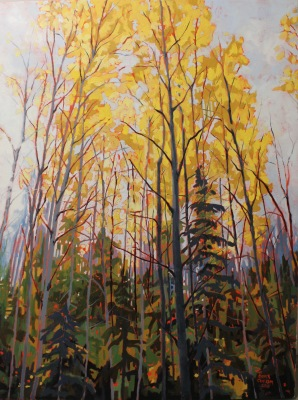 Autumn Whispers-40x30-OIL ON CANVAS- 2017