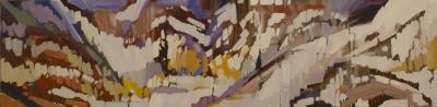 MOUNTAINOUS SWELLS - 48X12 - OIL ON CANVAS - 2017